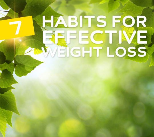habits for effective weight loss