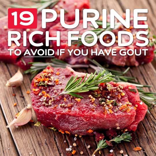 high purine foods
