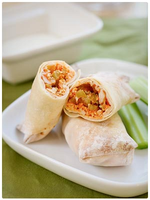 Baked Buffalo Chicken Rolls