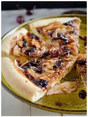 Cherry Barbecue Chicken Pizza