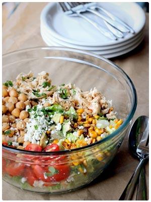 Chicken Chickpea Chopped Salad
