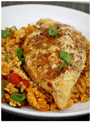 Chicken with Bulgur and Peppers
