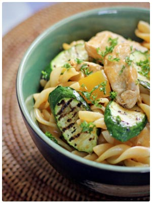 Creamy Tomato Chicken and Courgettes Fusilli