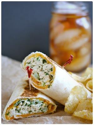 Crispy Chicken Salad Wraps