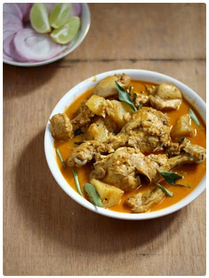 Kerala Style Chicken Curry with Thick Gravy