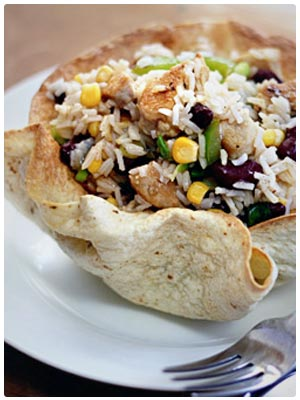 Mexican Rice with Chicken and Lime