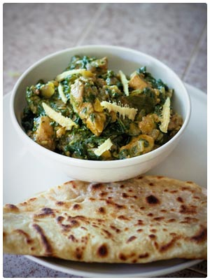 Palak Chicken Curry with Spinach