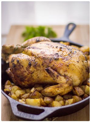 Paprika Roasted Chicken and Potatoes