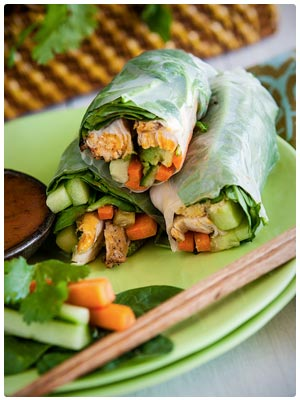 Southwest Grilled Chicken Spring Rolls