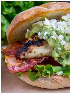 Tequila Lime Grilled Chicken Club Sandwich