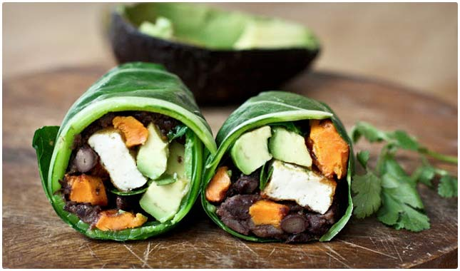 collard green wrap vegetarian