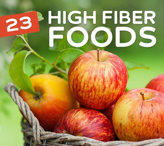 23 High Fiber Foods- to keep you regular.
