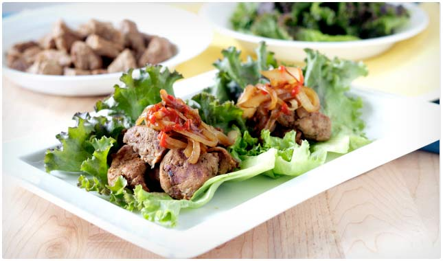 pork lettuce wrap