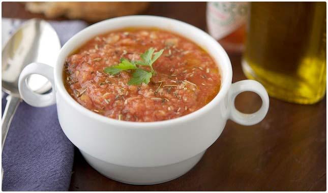 tomato and fava soup