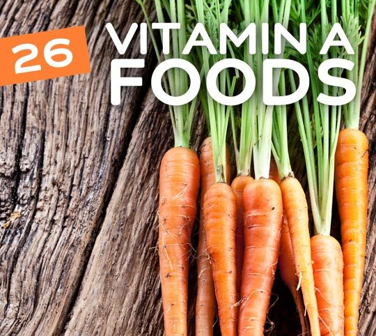26 Vitamin A Rich Foods- an essential vitamin for healthy eyes.