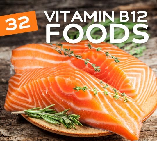 32 Foods High in Vitamin B12- an essential vitamin for everything from keeping you energized to healthy skin & hair.