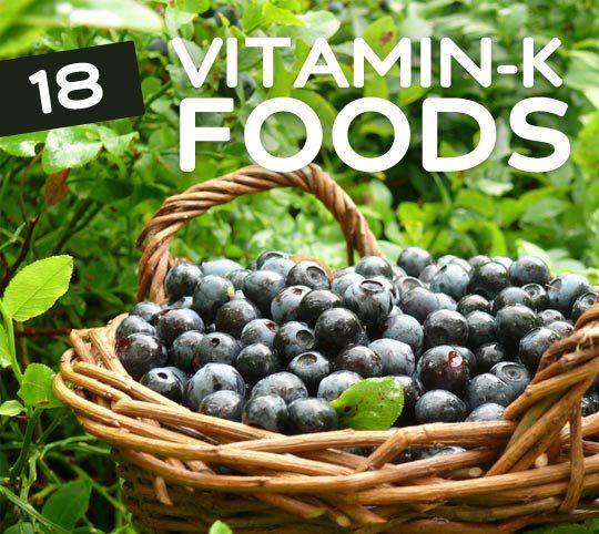 18 Foods High in Vitamin K- for stronger bones.