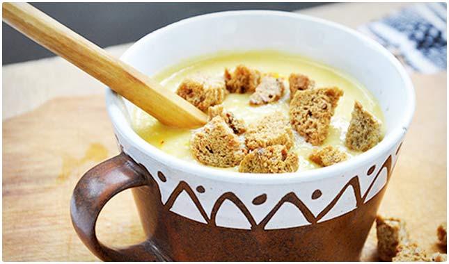 yellow peas creamy soup