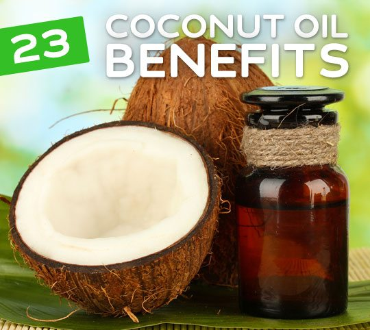 23 Benefits of Coconut Oil- prevents cancer, controls blood sugar levels, decreases belly fat, heals bruises faster and so much more.