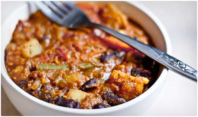 bean and vegetable curry