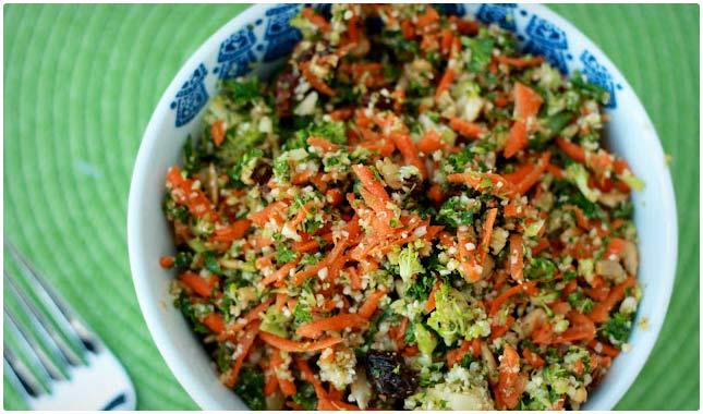 shredded vegetable detox salad