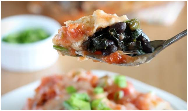 black bean and kale enchiladas