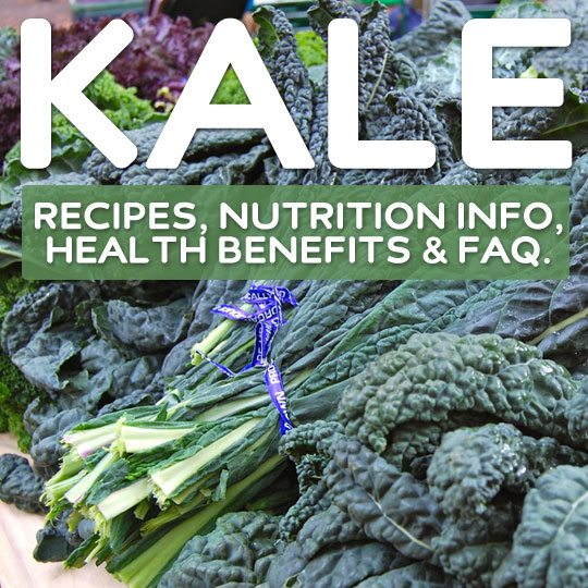 Kale Recipes, Nutrition Information, Health Benefits & Kale FAQ- discover the wonders of this super healthy leafy green.