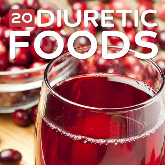 20 Diuretic Foods- to lower blood pressure and lose weight.