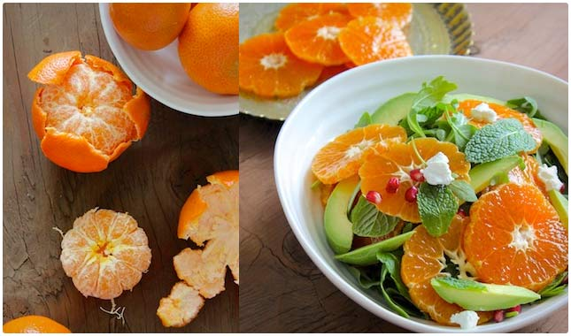 healthy orange and avocado salad