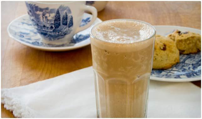 homemade espresso protein shake
