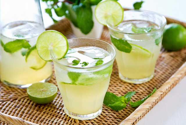 lime and ginger detox
