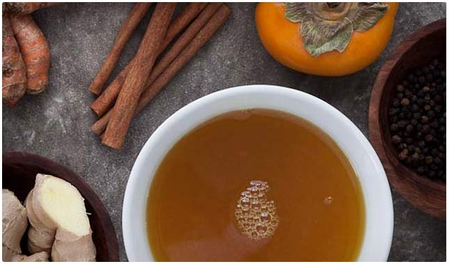 spiced cinnamon tea