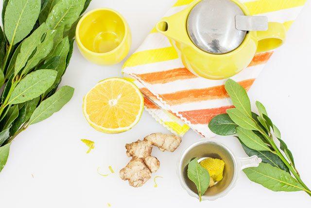 bay leaf ginger and orange tea