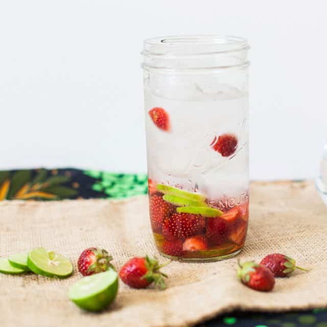 strawberry and lime water