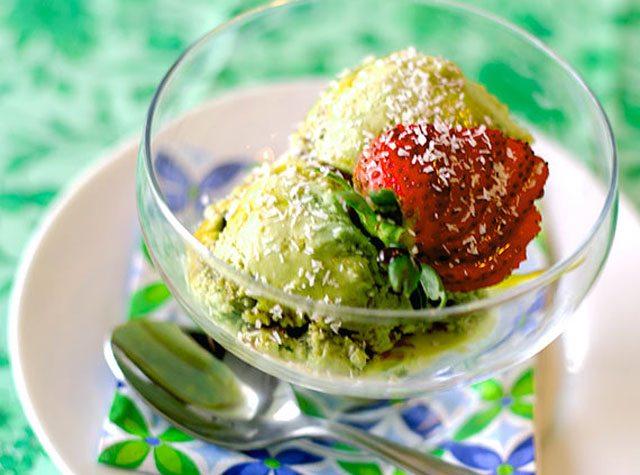 Green Tea Coconut Ice Cream