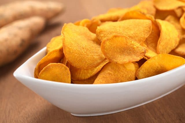 High Fiber Sweet Potato Chips