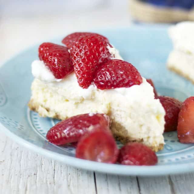Creamy, low carb strawberry cheesecake without the guilt!