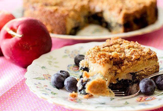 Nectarine and Blueberry Coffee Cake