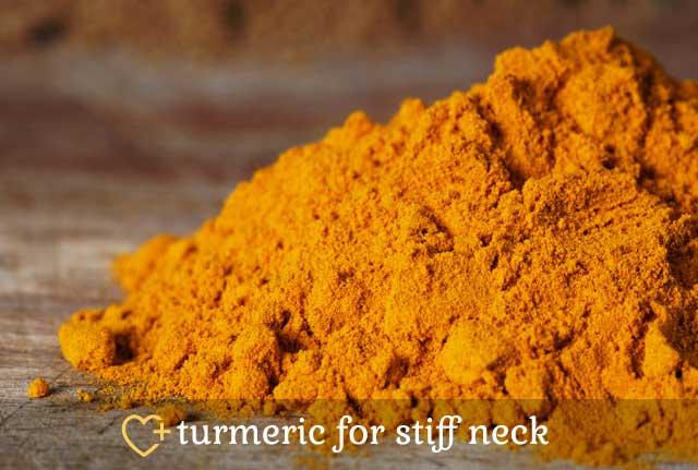 Turmeric for Stiff Neck