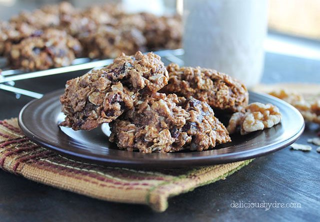 Walnut and Craisin Protein Cookies