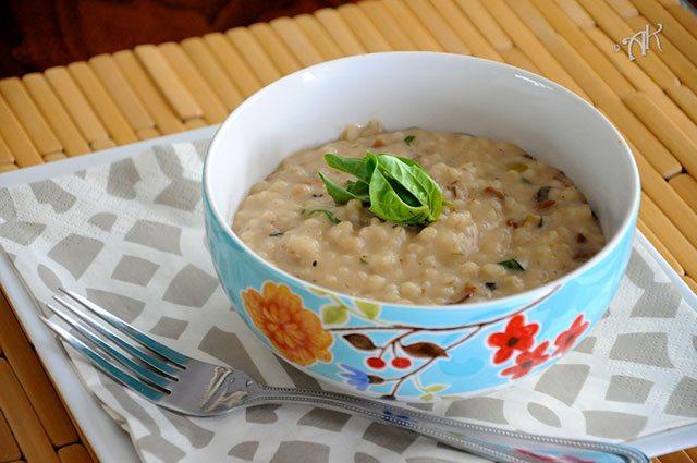 high fiber barley risotto
