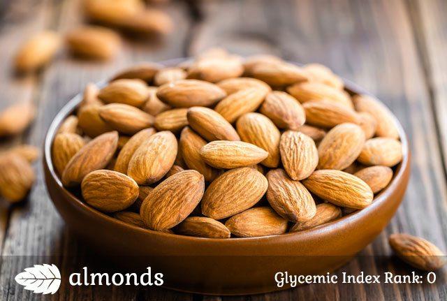 Low glycemic almonds