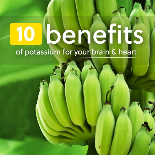 Here are 10 important benefits of potassium for a healthy brain and heart…