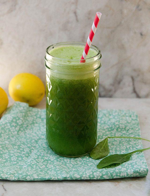 recette de limonade aux épinards verts