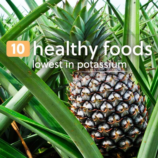 Here are 10 of the healthiest foods that are low in potassium…
