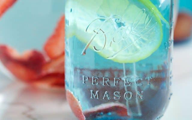 springtime strawberry spa water