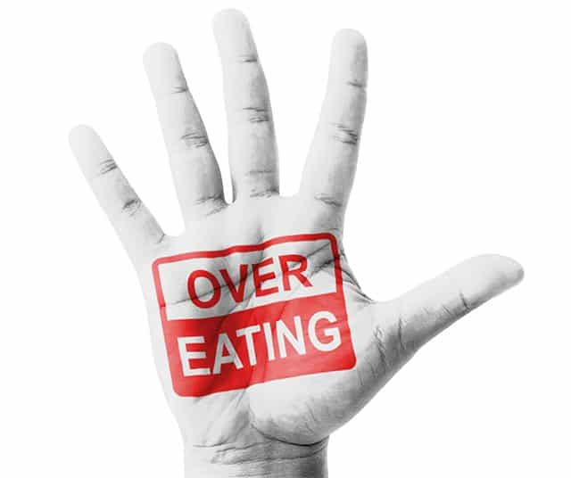 No overeating