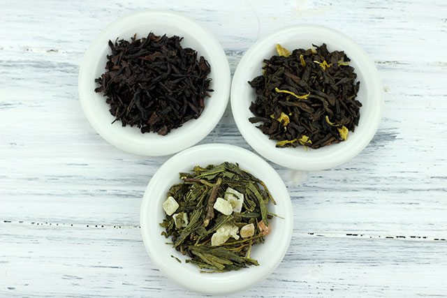 Green, black and white tea for kombucha