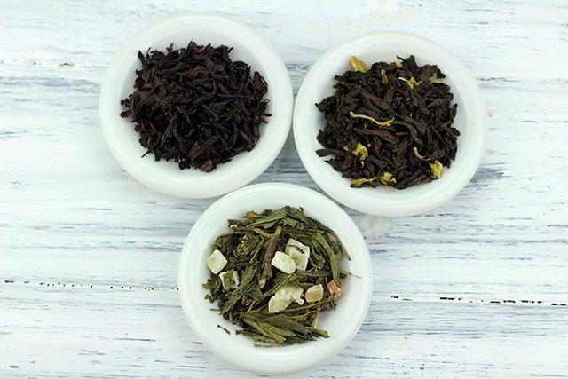 Green, black and white tea for kombucha