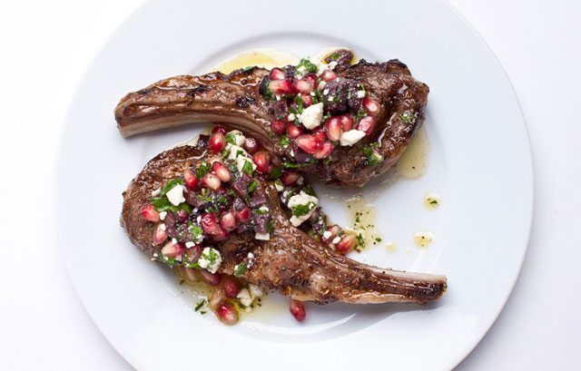 lamb-chops-with-pomegranate-relish